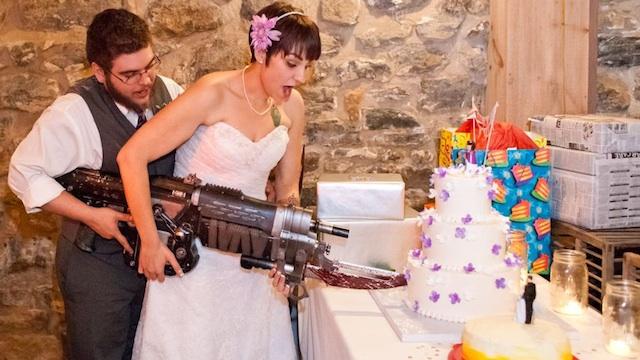 FOTO: svatba ve stylu Gears of War