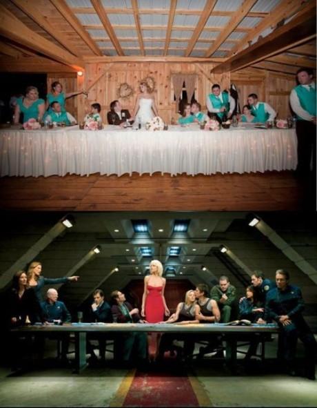 FOTO: Svatební foto fanoušků seriálu Battlestar Galactica