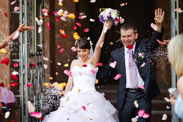 První fotka ženicha a nevěsty, muže a ženy