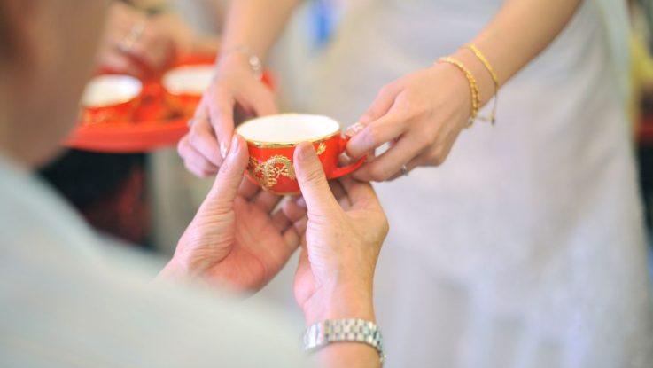 svatební čaj