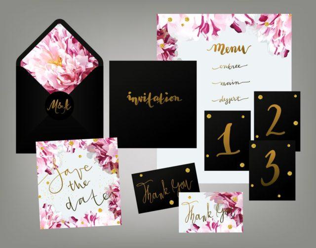 Svatební oznámení s menu