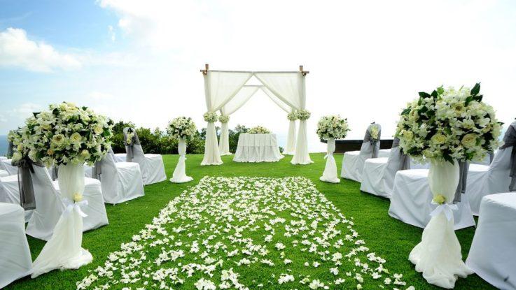 Svatební altán, svatební dekorace