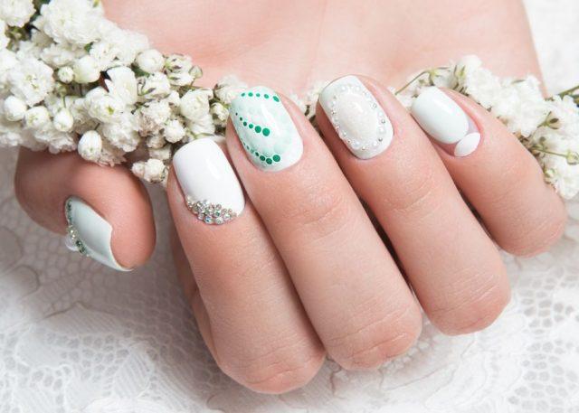 Svatební nehty foto