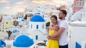 svatební cesta, Santorini