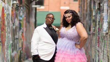Netradiční svatba černošského páru