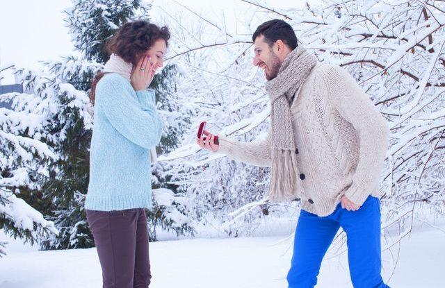 Zásnuby v zimě