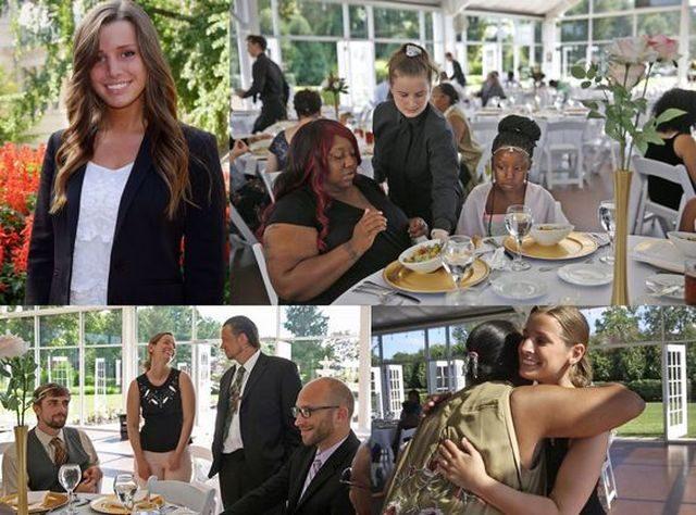 Nevěsta darovala svou svatební hostinu bezdomovcům