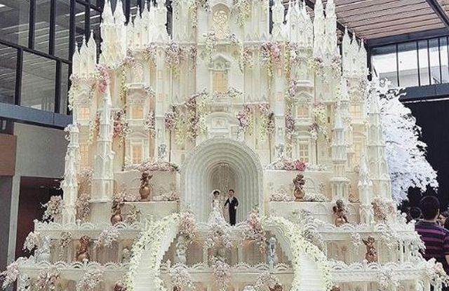 Fascinující svatební dorty